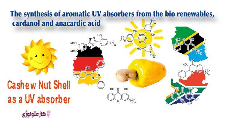 غلاف بادام هندی, صنعت ضد آفتاب, افزایش سرطان پوست, محصولات ضد آفتاب, قدرت جذب UVB, فنليک اسيد, فلاونوئيدها, ترکیبات فنلی ضد آفتاب .